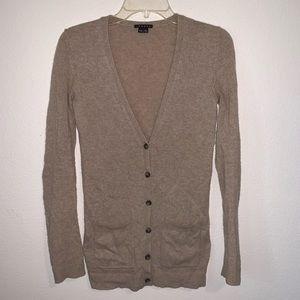 Theory Maira Royal Long Cardigan Cashmere Sweater